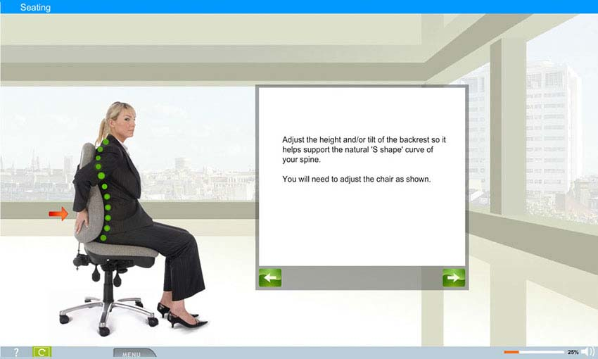 Office Safety / Ergonomics e-learning course